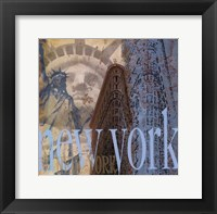 New York -Mini Framed Print