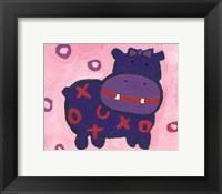 Hippo - mini Framed Print
