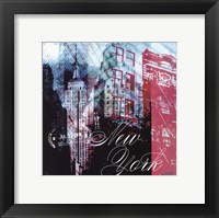 New York Stamps - mini Framed Print