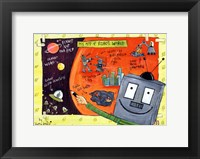My Map of Robot World Framed Print
