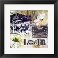 Live Love Learn - mini Framed Print