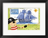 How a Pirate Ship Works Framed Print