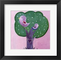 Bird Dots I - mini Framed Print