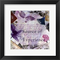 Source of Experience - mini Framed Print