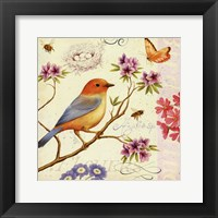 Birds and Bees II Framed Print