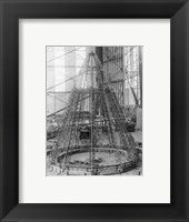 Rear Frame Constructing New German Zeppelin Framed Print