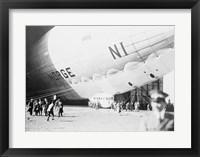 Norge Blimp Leaving Hanger Framed Print