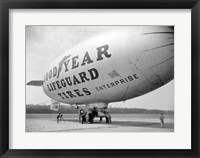 Framed Goodyear Blimp at Washington Air Post, 1938