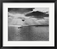 Framed U.S. Navy Blimp