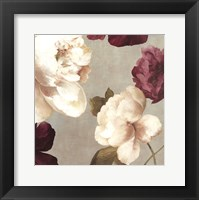 Framed Deep Peonies I - mini