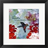 Framed JArdin Francais - mini