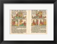 Framed Spread from the Biblia Pauperum printed by Albrecht Pfister