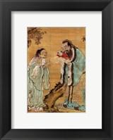 Framed Confucius Laozi Buddha