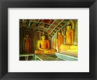 Buddha Statues Ibbagala Viharay Framed Print