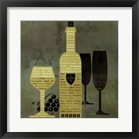 Framed Wine to Live by II - special