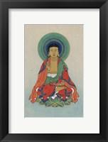 Framed Buddha Sitting on a Lotus