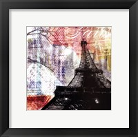 Paris Stamps - mini Framed Print