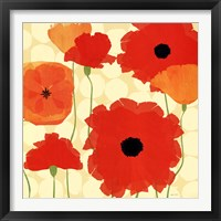 Framed California Poppies and Dots