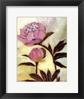Framed Pink Peony Blossom and Bud