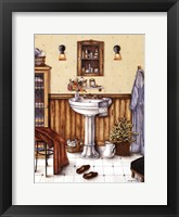 His Bathroom Framed Print