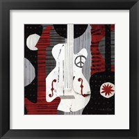 Rock n' Roll Guitars Framed Print