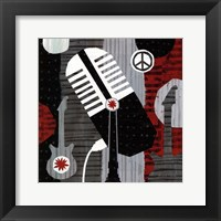 Rock n' Roll Mic Framed Print