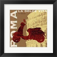 Motoring in Rome Framed Print