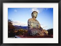 Bronze Buddha's Statue, Jodo Mission, Lahaina, Maui, Hawaii, USA Framed Print