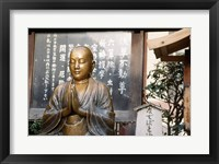 Framed Praying statue of Buddha in Asakusa Kannon Temple