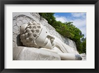 Framed Statue of reclining Buddha, Long Son Pagoda, Nha Trang, Vietnam