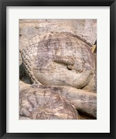 Reclining Buddha Closeup Framed Print
