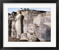 Standing Buddha and Reclining Buddha Framed Print