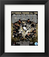 Framed Pittsburgh Penguins All-Time Greats Composite
