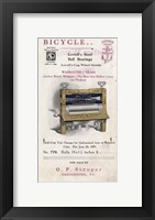 Bicycle Clothes Wringer Framed Print