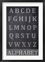 Framed Chalkboard Alphabet