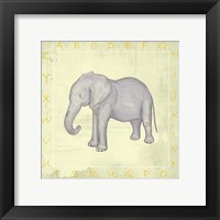 Elephant Alphabet Framed Print