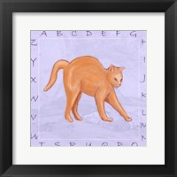 Cat Alphabet Framed Print