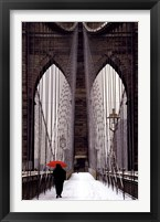 Framed Brooklyn Bridge Meets Red