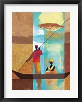 On the River I Framed Print