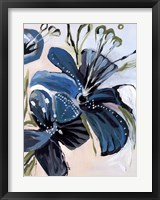 Framed Flowers of Azure I