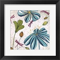 Framed Flowers & Dragonflies