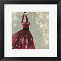 Fuschia Dress II Framed Print