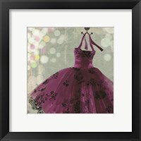 Fuschia Dress I Framed Print