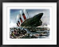 Titanic Sinking Framed Print