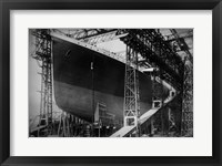 Framed Titanic Constructed at the Harland and Wolff Shipyard in Belfast Before Sail
