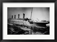 Docked Titanic Framed Print