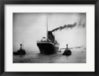 Framed Titanic with Tugboats