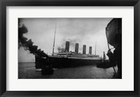Framed Titanic Leaving Harbor