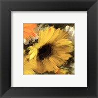 Framed Sunflowers Square II