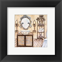 Framed Chateau Bath II